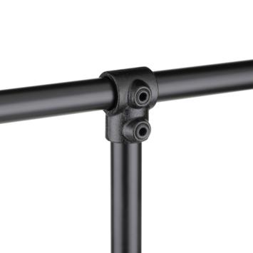 Novidade steigerbuis buiskoppeling T-stuk Zwart Ø 42mm