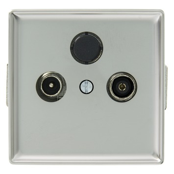 Schneider Electric Artec coax contactdoos rvs