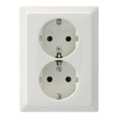 Schneider Electric Artec dubbel geaard stopcontact wit