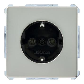 Schneider Electric Artec enkel geaard stopcontact edelstaal