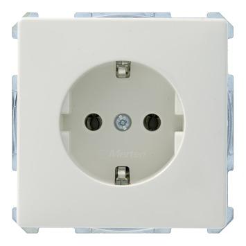 Schneider Electric Artec enkel geaard stopcontact wit