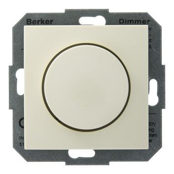 Berker S.1 dimmer met draaiknop crème