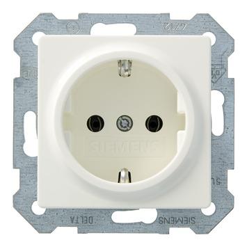 Siemens Delta i-system enkel geaard stopcontact wit