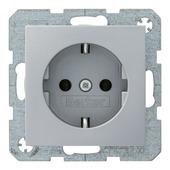Berker B.1-b.3-b.7 enkel geaard stopcontact aluminium