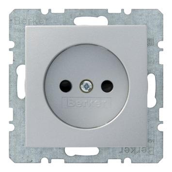 Berker B1-B.3-B.7 Enkel Stopcontact Aluminium