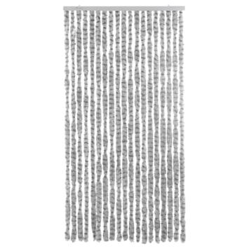 Livin' deurgordijn chenille grijs/donkergrijs 220x90 cm