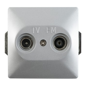 GAMMA Everest Stopcontact Universeel Coax Aluminium