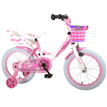 Kinderfiets Rose doll carrier 16 inch