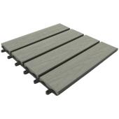 Balkontegel HKC houtnerf grijs 30x30cm 6 stuks