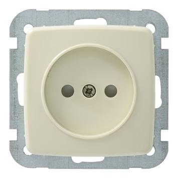 GAMMA K2 enkel stopcontact crème