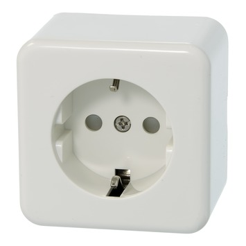 GAMMA Andes enkel stopcontact geaard wit