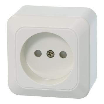 OK stopcontact opbouw enkel wit