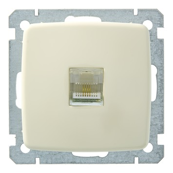 GAMMA K2 Stopcontact Telefonie Crème