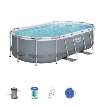 Zwembad pro frame ovaal 424x250x100 cm