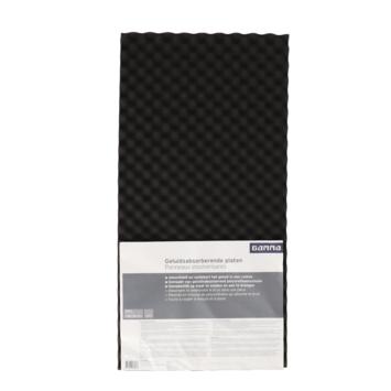 Gamma geluidsabsorberende plaat zwart 100x50cm 30mm 2 stuks