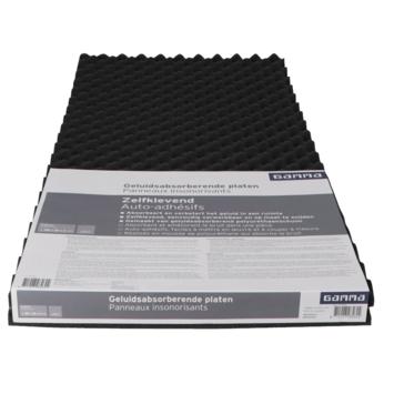 Gamma geluidabsorberende plaat zelfklevend zwart 100x50cm 30mm 2 stuks