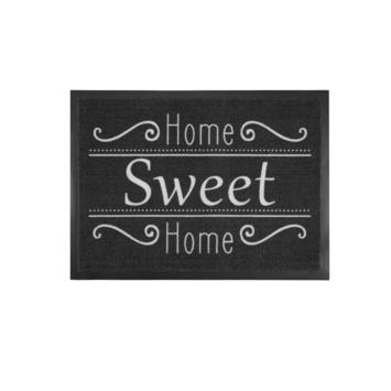 Schoonloopmat Home Sweet Home 58x78 Antraciet