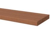 Vlonderplank Hardhout glad ca. 2,8x19 cm, lengte 245 cm