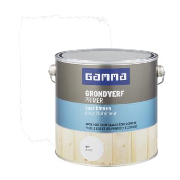 GAMMA grondverf binnen wit 2,5 liter