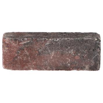 Trommelsteen Waalformaat Rood/Zwart 20x5x7 cm
