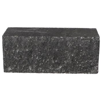 Stapelblok Beton Geknipt Antraciet 30x12x12 cm