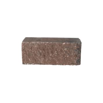 Stapelblok Beton Geknipt Bruin/Zwart 30x12x12 cm