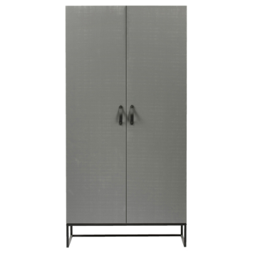 Garderobekast Morris 2 deurs leemgrijs
