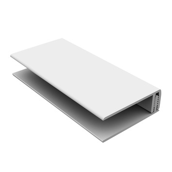 Durasid gevelbekleding tweedelig randprofiel RAL9001 250 cm