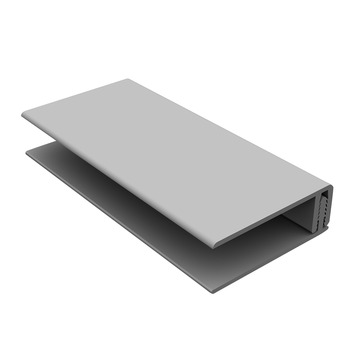 Durasid gevelbekleding tweedelig randprofiel RAL7035 250 cm