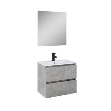 Atlantic badmeubelset Heonmet spiegel en witte wastafel 60cm Beton