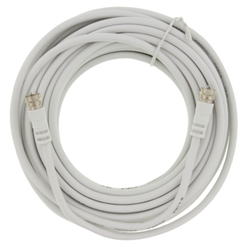 Q-Link coax kabel RG59 10 meter met F-connector wit