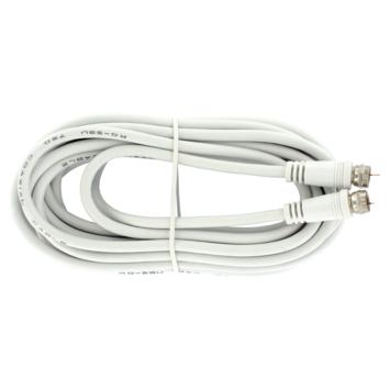 Q-Link coax kabel RG59 5 meter met F-connector wit