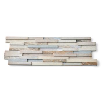 Wandbekleding Boho Wood design wit 0,57m2