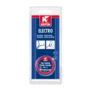 Griffon electro draadsoldeer tin/koper 99/1 harskern Ø 1,5 mm