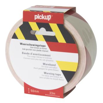 Pickup Vloermarkeringstape rood/wit 5 cm - 33 meter