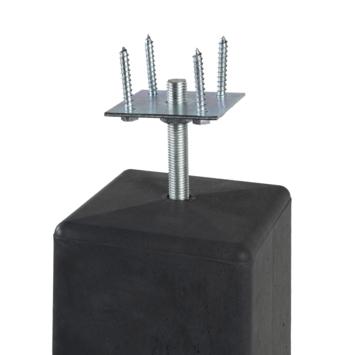 Betonpoer met Plaat, taps 18x18/15x15 cm hoogte 50 cm