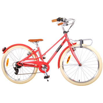 Kinderfiets Volare Melody pastel Red 24 inch