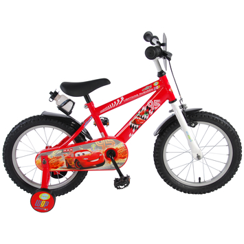 Kinderfiets Disney Cars Red 16 inch