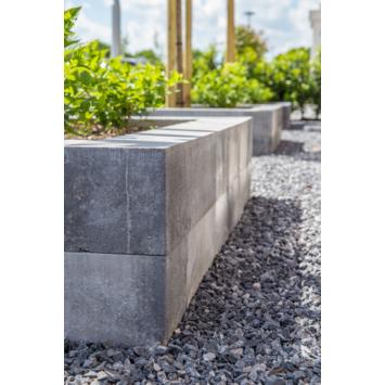 Stapelblok Beton Strak Grijs/Zwart 60x12x12 cm