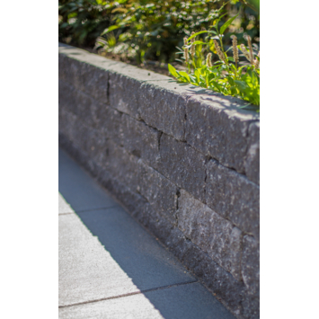 Stapelblok Beton Getrommeld Grijs/Zwart 30x12x10 cm