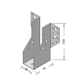Raveeldrager Verzinkt Zwaar 59x138 mm