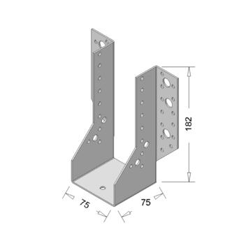 Raveeldrager Verzinkt Zwaar 75x182 mm