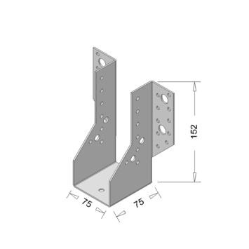 Raveeldrager Verzinkt Zwaar 75x152 mm