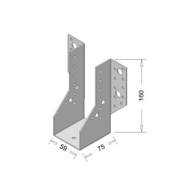 Raveeldrager Zwart Zwaar 59x160 mm