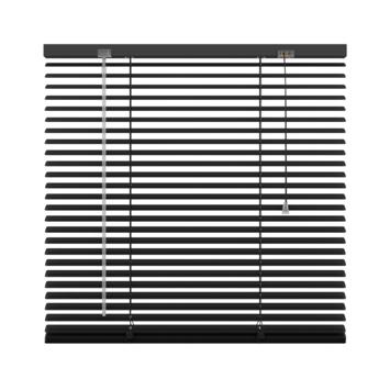 GAMMA horizontale jaloezie aluminium 25 mm 203 zwart 60x180 cm