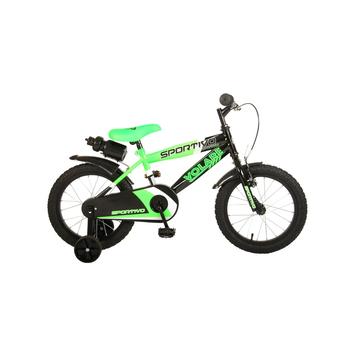 Kinderfiets Volare Sportivo Neon Green Black 16 inch