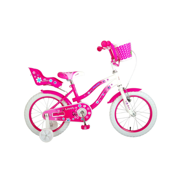 Kinderfiets Volare Lovely Pink White 16 inch