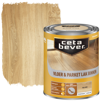 Cetabever vloer- & parketlak transparant blank zijdeglans 750 ml