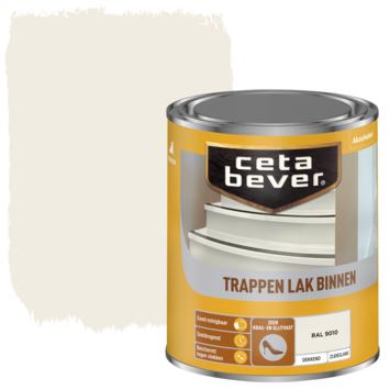 Cetabever trappenlak dekkend RAL 9010 gebroken wit zijdeglans 750 ml