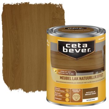 Cetabever meubellak natuurlijk effect brown wash 750 ml